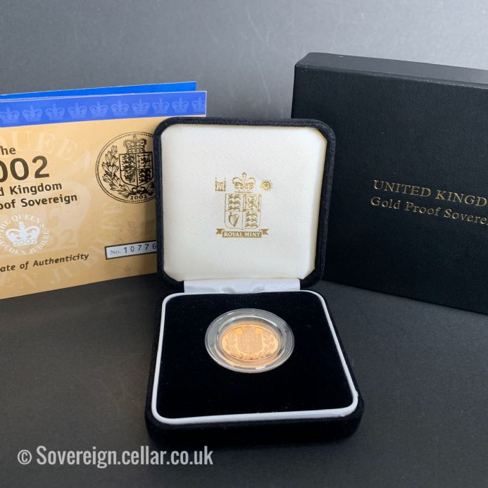 2002 Royal Mint  Proof Full Gold Sovereign